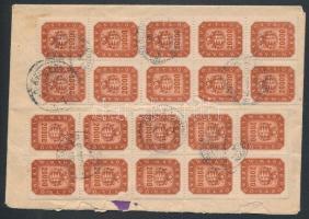 (20. díjszabás) Visszairányított távolsági levél 20 x 20000 milpengő bérmentesítéssel Inflation cover
