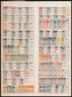 Német területek 12 db sor + 124 db bélyeg kétoldalas nagyalakú berakólapon (1703,50)