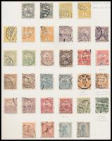 Főleg bélyegzett Turul gyűjtemény sok szép bélyegzéssel 8 albumlapon (min. 90.000)