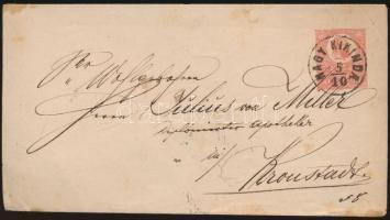 1871 5kr díjjegyes levél NAGY KIKINDA - Brassó