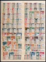 Saar tétel, benne 20 db sor és 102 db bélyeg kétoldalas nagyalakú berakólapon (153,10)