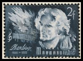 1948 Légrády Sándor eredeti bélyegterve egy kiadatlan Zeneszerzők sorozathoz kifogazott bélyegméretben / original stamp designs of S. Légrády to an unissued Composers set, perforated stamp size