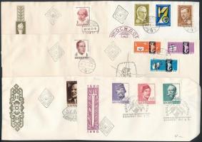 7 db FDC ill. előlap vágott bélyegekkel az 1960-as évek elejéről (13.800)