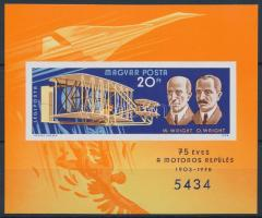 1978 75 éves a motoros repülés vágott blokk (5.000)