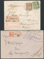 2 db ajánlott, expressz levél Turul bérmentesítéssel az 1910-es évekből
