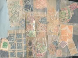 1889-1915 Pár ezer db bélyeg tasakokban