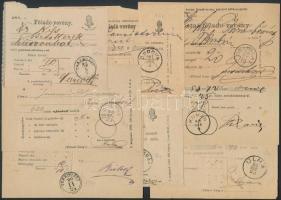 1880-1900 8 db postai feladóvevény klf bélyegzésekkel