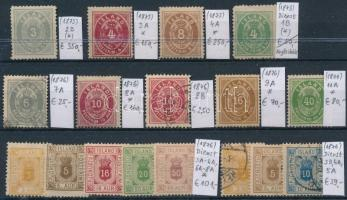 1873-1876 Klasszikus összeállítás, 17 db bélyeg (Mi EUR 1.227,-)