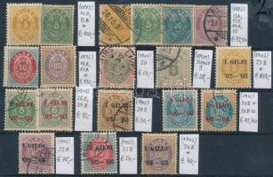 1882-1902 Klasszikus összeállítás, 19 db bélyeg (Mi EUR 687,-)