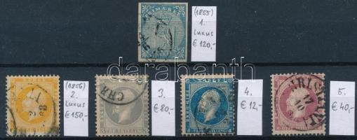 1855-1856 Klasszikus összeállítás, 5 db bélyeg (Mi EUR 402,-)