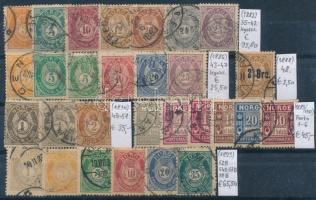 1882-1893 Klasszikus összeállítás, 29 db bélyeg (Mi EUR 267,-)