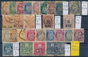 1907-1914 Klasszikus összeállítás, 32 db bélyeg 2 stecklapon (Mi EUR 973,-)