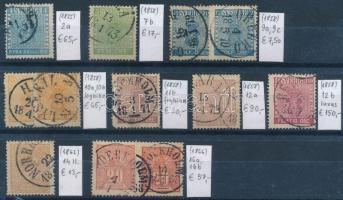 1855-1866 Klasszikus összeállítás, 12 db bélyeg (Mi EUR 494,-)