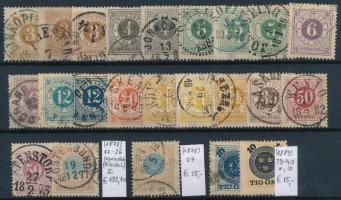 1872-1889 Klasszikus összeállítás, 23 db bélyeg (Mi EUR 222,-)