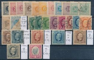 1874-1900 Klasszikus összeállítás, 28 db bélyeg (Mi EUR 381,-)
