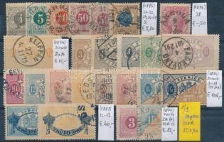 1886-1911 Klasszikus összeállítás, 74 db bélyeg 3 stecklapon (Mi EUR 323,-)