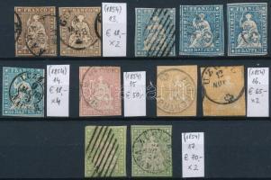 1854 Klasszikus összeállítás, 11 db bélyeg (Mi EUR 428,-)