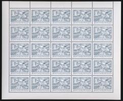 1998 Jendrassik teljes ív, benne lemezhibás bélyeg (15.000)