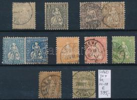 1862 Klasszikus összeállítás, 11 db bélyeg (Mi EUR 395,-)