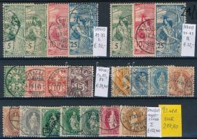 1900-1914 Klasszikus összeállítás, 90 db bélyeg 3 stecklapon (Mi EUR 492,-)