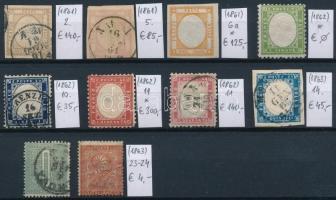 1861-1863 Klasszikus összeállítás, 10 db bélyeg (Mi EUR 874,-)