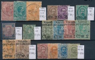 1884-1893 Klasszikus összeállítás, 18 db bélyeg (Mi EUR 399,-)