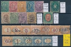 1863-1889 Klasszikus összeállítás, 45 db bélyeg 2 stecklapon (Mi EUR 456,-)
