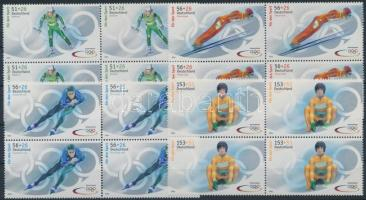 Téli olimpia négyestömbök Winter Olympics blocks of 4