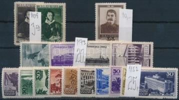 Szovjetunió 3 db sor és 1 db önálló érték (Mi EUR 58,-)