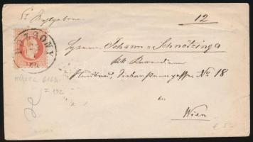 1869 5kr levélen POZSONY