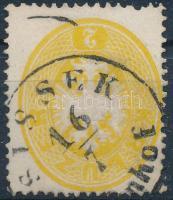 1863 2kr SISSEK (Ba)hnhof