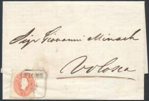 1861 5kr levélen FIUME - VOLOSCA