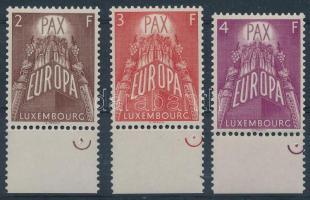 1957 Europa CEPT ívszéli sor Mi 572-574
