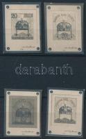 1900 Pap Henrik 4 különböző bélyegtervének nyomdai gyártási fotója