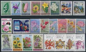 1963-1990 Virág motívum 4 klf sor + 6 db önálló érték