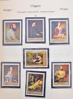 Magyar gyűjtemény 1960-1968 albumlapokon + néhány sor és darab 5 Abria berakólapon, Abria rugós borítóban