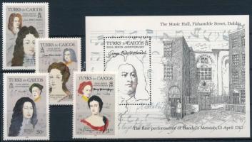 Georg Friedrich Händel sor + blokk Georg Friedrich Händel set + block