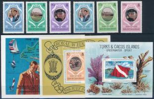 6 stamps and 3 blocks, 6 klf bélyeg és 3 klf blokk
