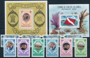 10 stamps and 2 blocks, 10 klf bélyeg és 2 klf blokk