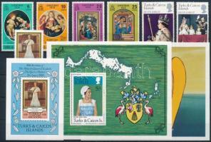 1976-1980 7 stamps + 7 blocks, 1976-1980 7 klf bélyeg + 7 klf blokk