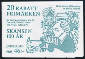 100 éves a Skanzen bélyegfüzet Skanzen stamp-booklet