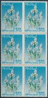 Virágok 6-os tömb Flowers block of 6