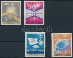 1964 Olimpia vágott sor Mi 828-831