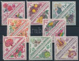 Portó, virágok sor párokban Postage due, flower set in pairs