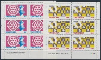 Chess and rotary mini sheet pair, Sakk és rotary kisív pár