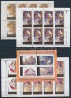 Audubon madarai kisív sor + blokk Audubon birds minisheet set + block
