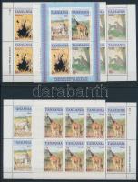 Animals mini sheet set + block, Állatok kisív sor + blokk