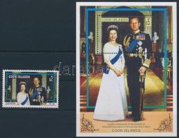 II. Erzsébet 50. házassági évfordulója + blokk Elizabeth II.'s 50th wedding anniversary + block
