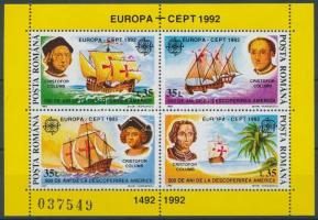 CEPT Europa Discovery of America block, Europa CEPT Amerika felfedezése blokk