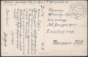 "Tábori posta képeslap ""EP 600"" Austria-Hungary Field Postcard ""EP 600"""